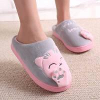 时尚棉拖鞋女包跟情侣厚底秋冬季家用可爱儿童居家居室内保暖月子棉鞋