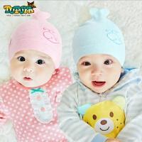 婴儿帽子秋冬0-3个月头套帽宝宝帽子男女保暖棉新生儿胎帽满月帽