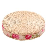 蒲团坐垫飘窗垫家用地板垫榻榻米圆形日式打坐加厚藤编地垫子