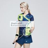 羽毛球服套装 男女款运动服 情侣款网球乒乓球速干短袖裙裤