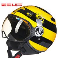 摩托车头盔男女士半覆式个性酷空军复古半盔四季电动车安全帽