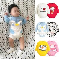 婴儿连体衣服女宝宝新生儿纯棉薄款6三角哈衣春夏1岁春装0男3个月