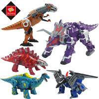 儿童拼装机器人合体神兽金刚玩具变形恐龙五合一变世修罗王巨兽龙