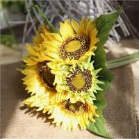 仿真花束向日葵太阳花舞蹈道具室内家居客厅干花装饰假花绢花摆件