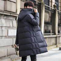 男士羽绒服中长款帅气冬季潮流韩版修身2017新款加厚保暖外套冬男