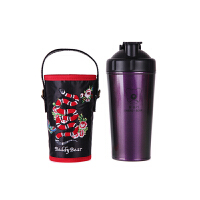 【限时秒杀】杯具熊(BEDDYBEAR)能量保温杯碱性矿物质不锈钢水壶健康杯泡茶杯700ml 紫色蛇