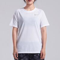 NIKE耐克女短袖T恤休闲透气圆领跑步训练运动上衣890192