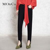 MOCO深色牛仔裤女铅笔裤直筒休闲长裤MA173PAT425 摩安珂