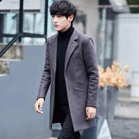 毛呢大衣男士风衣男青年韩版呢子外套中长款男学生呢子风衣外套潮