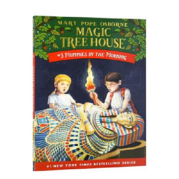 英文原版 Magic Tree House No. 3:Mummies in the Morning,【神奇树屋-3】木乃伊之谜  神奇书屋 青少年课外阅读 善本图书 汇聚全球出版物,让阅读改变生活,给你无限知识