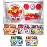 激战奇轮3玩具烈焰蓝龙对战标靶套装破天战神合体套装