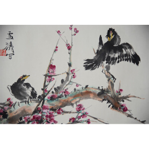 S王雪涛  争春 34*45