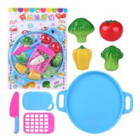 儿童仿真切水果蔬菜过家家早教玩具切切乐套装男女孩