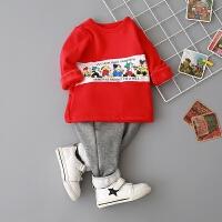 童装男宝宝长袖T恤0-1-2-3-4岁女童打底衫婴幼儿上衣