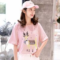 短袖纯棉t恤2018韩版时尚装学生圆领白色上衣宽松打底衫