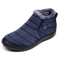欣清2017冬季新款老北京布鞋加绒男短靴时尚保暖男士棉鞋雪地靴