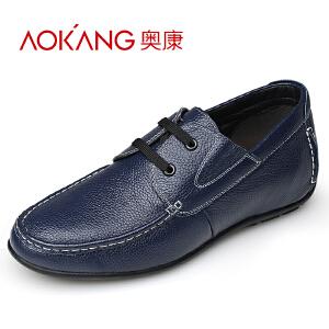 奥康 男士内增高户外休闲鞋隐形增高鞋英伦男鞋 舒适增高男式