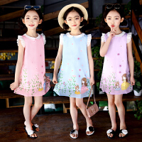 女童裙子夏季新款 韩版儿童公主裙7中大童8小清新9连衣裙10岁
