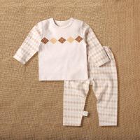 活力熊仔 儿童套装秋季婴儿服装彩棉长袖套头上衣长裤两件套