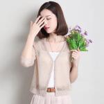 开衫女短款薄韩版春夏新镂空百搭针织衫纯色白小外套防晒衣空调服