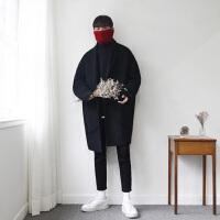 秋冬新款韩版双面羊绒呢子大衣男中长款宽松羊毛呢外套男宽松保暖 加棉款
