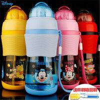 儿童水杯吸管杯迪士尼水壶防摔婴儿水瓶小孩杯子幼儿园宝宝学饮杯