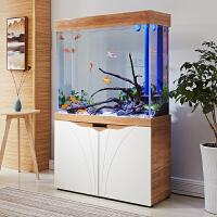 【品牌热卖】玻璃木纹色彩下过滤生态智能鱼缸水族箱金鱼热带鱼缸 H-1.5米超白+屏+手机控制 高159