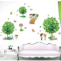 田园风绿树墙贴树浪漫卧室床头贴画客厅沙发电视背景墙贴纸可移除