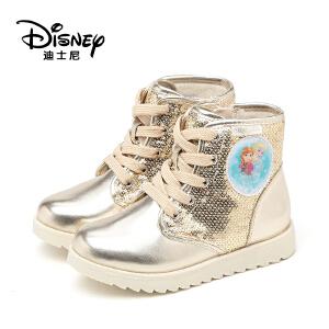 鞋柜/迪士尼冬季冰雪奇缘女童休闲运动靴1