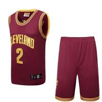 骑士队篮球服詹姆斯篮球服2号欧文球衣勇士30库里湖人科比篮球衣雷霆篮球服套装男 L/2XL(170-175 )