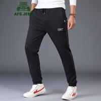 战地吉普AFS JEEP针织卫裤男 男士秋冬健身跑步休闲收口运动长裤