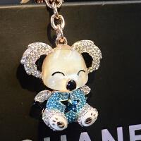 新款考拉水晶钥匙扣汽车钥匙链女士包包挂件卡通挂饰创意礼物 新款考拉 专柜