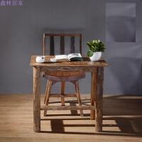 泰式实木家具新古典做旧书房写字桌学习桌办公桌简约电脑桌 约70*45*75cm 否