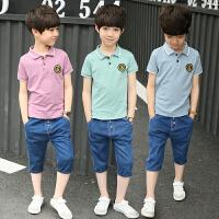 童装男童夏装套装新款中大童短袖夏季韩版男孩