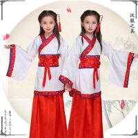六一儿童演出服古装汉服书童国学舞蹈表演服装弟子规三字经男女