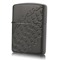 Zippo打火机 盔甲机黑哑漆雕刻 28966轮胎印记 车辙 人生履记