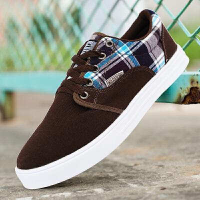 回力男士帆布鞋休闲板鞋低帮系带鞋韩版布鞋男鞋学生休闲男款鞋子