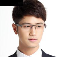 半框眼镜架 纯钛近视眼镜框 配眼镜框成品 商务男士镜架