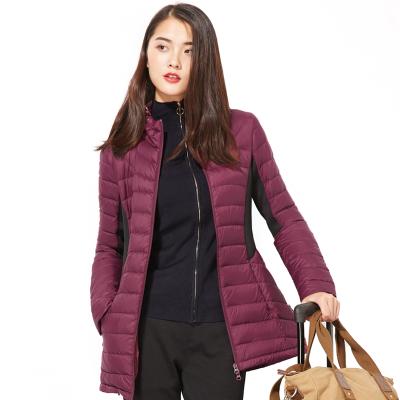 女士中长款轻薄羽绒服修身显瘦冬装新款韩版女装外套 发货周期:一般在付款后2-90天左右发货,具体发货时间请以与客服协商的时间为准