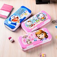 韩国创意儿童文具盒女可爱公主10岁多功能三层小学生铅笔盒男笔袋