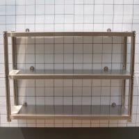 厨房不锈钢置物架墙壁拖挂式三层调料架锅碗瓢勺收纳架上墙整理架 加厚长150宽35高75-三层 中间层板可调