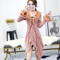 女装秋冬冬季新款时尚名媛气质修身显瘦潮流百搭针织外套毛衣