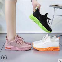 袜子鞋女新款休闲运动鞋韩版百搭老爹鞋厚底飞织弹力鞋子