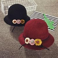 女童帽子秋冬儿童渔夫帽大沿盆帽可爱公主帽韩版潮宝宝帽子遮阳帽