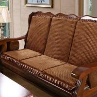 实木沙发坐垫 带靠背加厚海绵垫单人椅垫带绑扣凉椅坐垫 靠背坐垫50*47*60CM