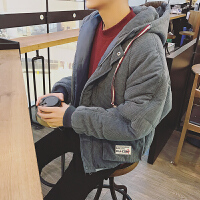 �n�^2018秋冬新款男�b�W生青少年刺�C棉衣 深灰
