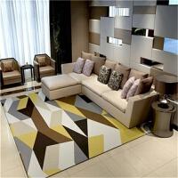 北欧地毯客厅几何图案现代简约长方形北欧风地毯家用沙发茶几毯j