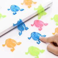 80后怀旧青蛙玩具跳跳蛙塑料儿童宝宝玩具早教幼儿桌面游戏小礼物