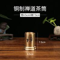 茶道六君子 家用纯铜套装茶具配件茶夹子 功夫茶叶镊子茶杯夹茶筒