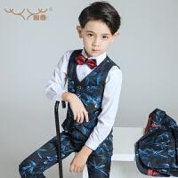 儿童礼服钢琴演出服小西服马甲小孩表演服春男童西装套装